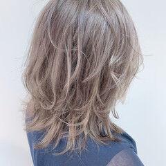 イルミナカラー ミディ ナチュラル ミディアム ヘアスタイルや髪型の写真・画像
