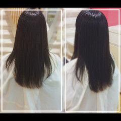 ナチュラル ロング 髪質改善カラー 髪質改善トリートメント ヘアスタイルや髪型の写真・画像