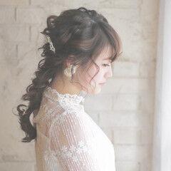 ショート 花 成人式 ロング ヘアスタイルや髪型の写真・画像