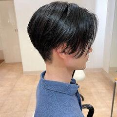 ショート 刈り上げ センター分け センターパート ヘアスタイルや髪型の写真・画像