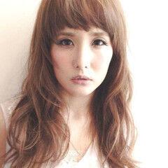 レイヤーカット カジュアル レイヤーロングヘア ロング ヘアスタイルや髪型の写真・画像
