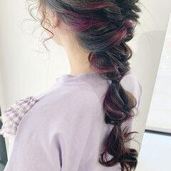 ロング アンニュイほつれヘア イヤリングカラー カラーバター ヘアスタイルや髪型の写真・画像