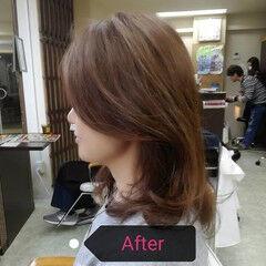 ナチュラル ロング デジタルパーマアディクシーカラー ヘアスタイルや髪型の写真・画像