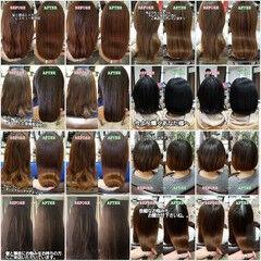 トリートメント 髪質改善 美髪 ロング ヘアスタイルや髪型の写真・画像