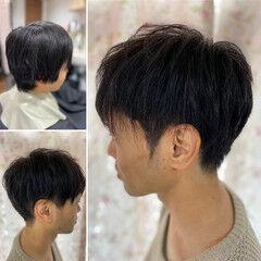ショート 脱縮毛矯正 縮毛矯正 ストリート ヘアスタイルや髪型の写真・画像