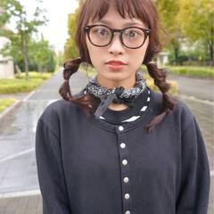 前髪あり セミロング ヘアアレンジ 簡単ヘアアレンジ ヘアスタイルや髪型の写真・画像
