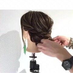 ギブソンタック 上品 デート エレガント ヘアスタイルや髪型の写真・画像