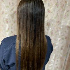 縮毛矯正 髪質改善トリートメント 髪質改善 ロング ヘアスタイルや髪型の写真・画像