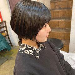 ナチュラル ショート ショートボブ グラボブ ヘアスタイルや髪型の写真・画像