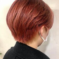 ガーリー ショートヘア ブリーチ ダブルカラー ヘアスタイルや髪型の写真・画像