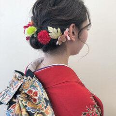 ヘアアレンジ ヘアセット アンニュイほつれヘア 成人式 ヘアスタイルや髪型の写真・画像