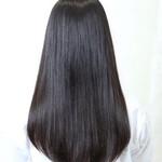 サラサラ 黒髪 ストレート ロング