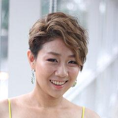 オシャレ ショート イメチェン ハイライト ヘアスタイルや髪型の写真・画像