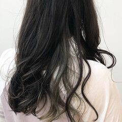 透明感カラー ストリート インナーカラー 大人かわいい ヘアスタイルや髪型の写真・画像