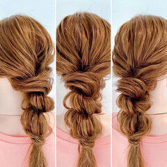 簡単ヘアアレンジ ツインテール ヘアアレンジ ヘアセット ヘアスタイルや髪型の写真・画像
