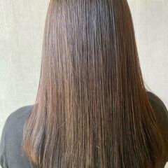 セミロング 縮毛矯正 髪質改善トリートメント 髪質改善 ヘアスタイルや髪型の写真・画像