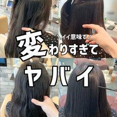 ナチュラル 髪質改善 セミロング ストレート ヘアスタイルや髪型の写真・画像