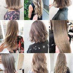 切りっぱなしボブ ラベージュ グレージュ ミニボブ ヘアスタイルや髪型の写真・画像