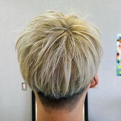 ダブルカラー 透明感カラー ストリート ハイトーンカラー ヘアスタイルや髪型の写真・画像