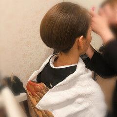 ボブ 結婚式 和装髪型 アップ ヘアスタイルや髪型の写真・画像