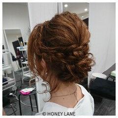女子会 ミディアム ヘアアレンジ デート ヘアスタイルや髪型の写真・画像