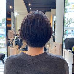 ショート アンニュイほつれヘア 抜け感 ノースタイリング ヘアスタイルや髪型の写真・画像