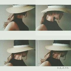ハット モード 涼しげ 夏 ヘアスタイルや髪型の写真・画像