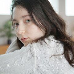 地毛風カラー ロング ゆるふわセット ナチュラル ヘアスタイルや髪型の写真・画像