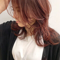 ウルフカット ミディアム ネオウルフ ウルフ ヘアスタイルや髪型の写真・画像