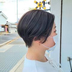 モード ショート ハンサム レディース ヘアスタイルや髪型の写真・画像