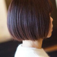 ヘアカラー ナチュラル 大人ヘアスタイル ショートボブ ヘアスタイルや髪型の写真・画像