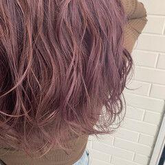 フェミニン ラベンダーカラー ロング かわいい ヘアスタイルや髪型の写真・画像
