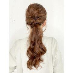 ナチュラル ヘアアレンジ セルフヘアアレンジ ロング ヘアスタイルや髪型の写真・画像