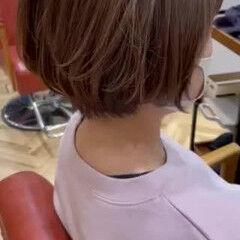 マッシュショート ハンサムショート ナチュラル くびれボブ ヘアスタイルや髪型の写真・画像