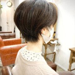 縮毛矯正 ゆるふわ ナチュラル ショート ヘアスタイルや髪型の写真・画像