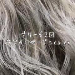 エレガント ミディアム 外国人風カラー アウトドア ヘアスタイルや髪型の写真・画像