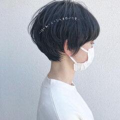 ショートヘア ツヤ 丸みショート ショート ヘアスタイルや髪型の写真・画像