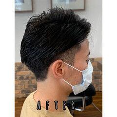 メンズヘア ナチュラル メンズパーマ ツーブロック ヘアスタイルや髪型の写真・画像