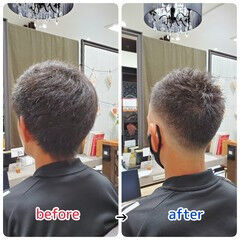 ナチュラル 薄毛改善 名古屋市守山区 頭皮ケア ヘアスタイルや髪型の写真・画像