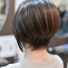 ヘアケア ショートヘア ショート グラデーション ヘアスタイルや髪型の写真・画像