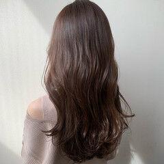 ナチュラル ロング 秋 秋ブラウン ヘアスタイルや髪型の写真・画像