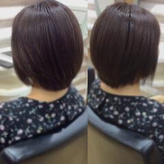 髪質改善トリートメント ボブ ナチュラル ショートヘア ヘアスタイルや髪型の写真・画像