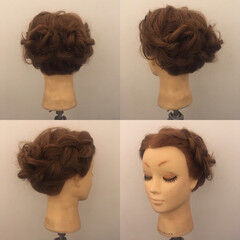 裏編み込み 簡単ヘアアレンジ フェミニン ヘアアレンジ ヘアスタイルや髪型の写真・画像