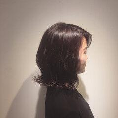 チェリー フェミニン 外ハネボブ ミディアム ヘアスタイルや髪型の写真・画像