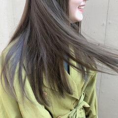 くすみカラー 暗髪 アンニュイほつれヘア 透明感カラー ヘアスタイルや髪型の写真・画像