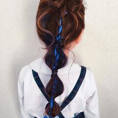 ヘアアレンジ リボンアレンジ セルフアレンジ ガーリー ヘアスタイルや髪型の写真・画像