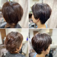 ベリーショート 髪質改善カラー モード ショートボブ ヘアスタイルや髪型の写真・画像