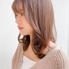 ワンカールパーマ ナチュラル レイヤーカット 外ハネ ヘアスタイルや髪型の写真・画像