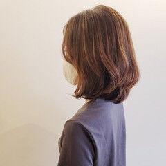 エレガント 大人ミディアム アンニュイ ミディアム ヘアスタイルや髪型の写真・画像