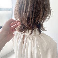 こなれ感 ミディアムレイヤー ウルフカット アンニュイほつれヘア ヘアスタイルや髪型の写真・画像